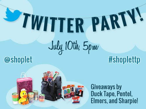 Twitter party #ShopletTP: First EVER @Shoplet Discount Office Supplies Twitter Party – Wednesday, July 10!