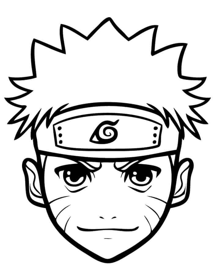 Naruto Head Coloring Pages In 2020 Easy Drawings Naruto Drawings Anime Boy Sketch