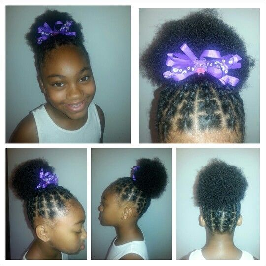 Connected ponytail puff