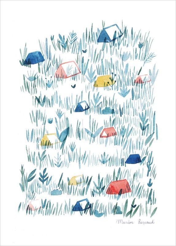 Affiche Aquarelle, thème nature, œuvre de Marion Barraud