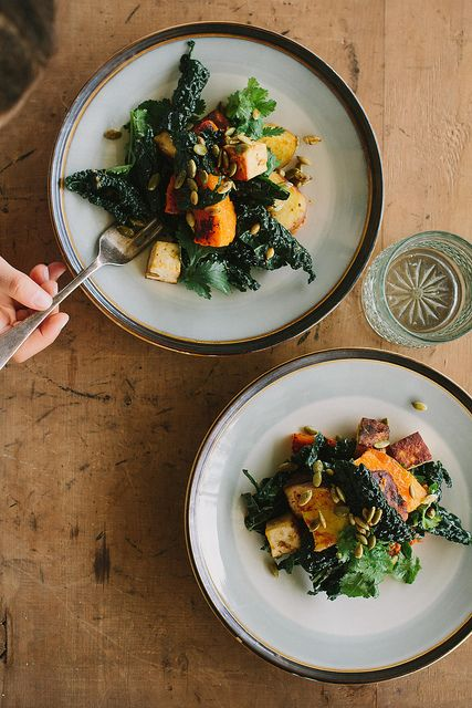 Miso-curry butternut squash with tofu + cavolo nero | My Darling Lemon Thyme