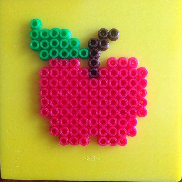 Apple hama beads by tasarimhama
