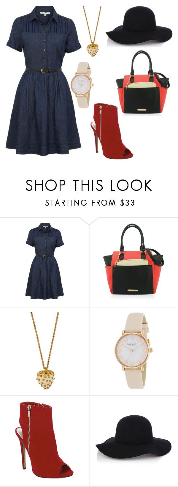 """""""You are every reason, every hope and every dream I've ever had ― Nicholas Sparks (The Notebook)"""" by emma-oloughlin ❤ liked on Polyvore featuring Uttam Boutique, Kenneth Jay Lane, Kate Spade and Warehouse"""
