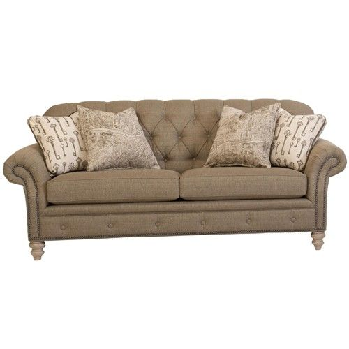 Smith Brothers Peter Lorentz 396 Traditional Button-Tufted Sofa with Nailhead Trim-Darvin