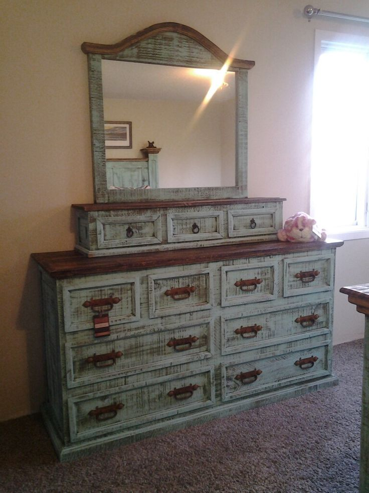 Best 14 Best Turquoise Wash Rustic Bedroom Furniture Images On 400 x 300