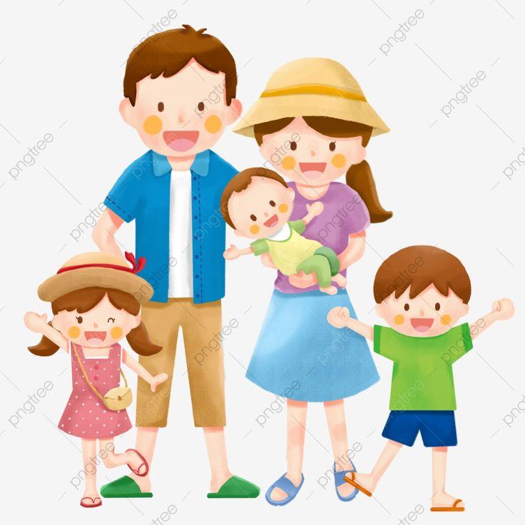 Familia Familia Familia De Cinco Viajes Clipart Familiar Turismo Fiesta Png Y Psd Para Descargar Gratis Pngtree Family Cartoon Family Clipart Family Illustration