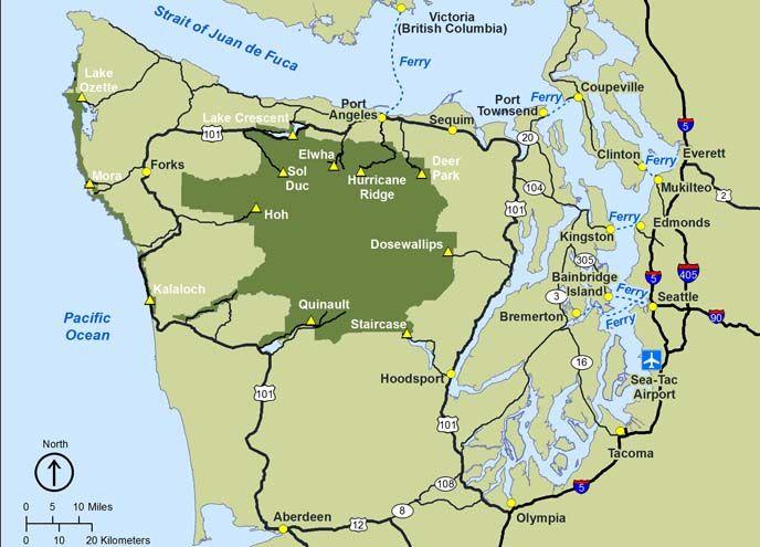 olympic national park map (olympic peninsula map)