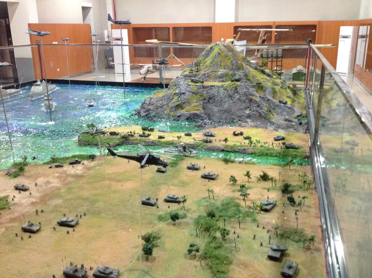 TNI AD, TNI AU and TNI AL on maneuvre on joint exercise in 1/72 scale diorama by ademodelart