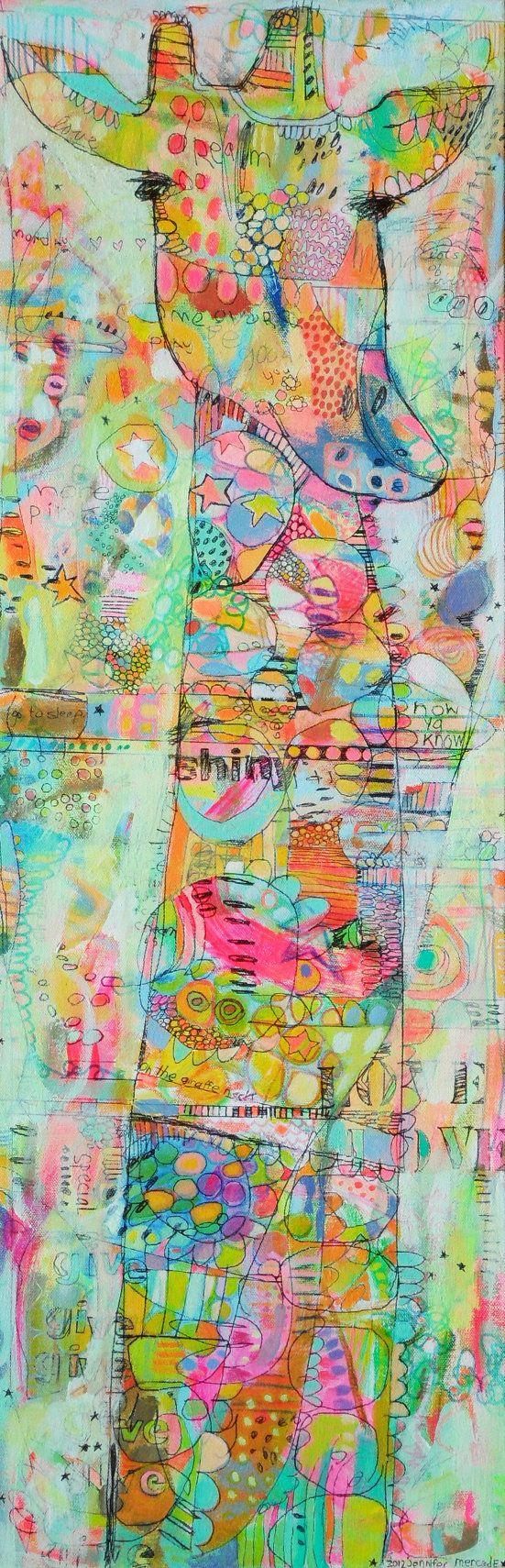 Sweet G-Raff Canvas Print by Jennifer Mercede 32x10in