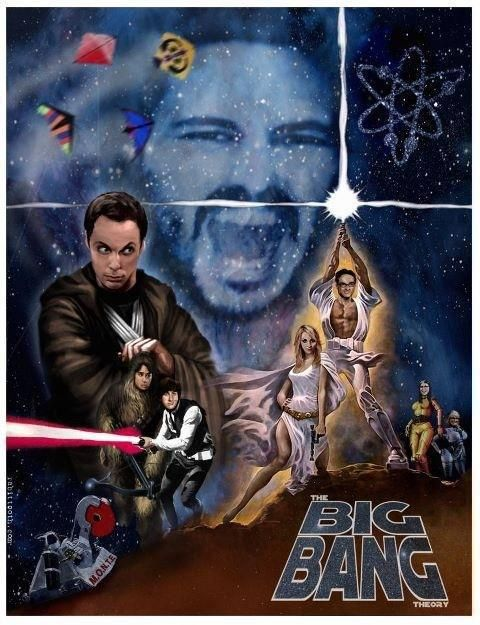 Two of my favorite things…BBT and Star Wars!: Geek, Nerd, Funny Stars War, The Artists, Funny Pictures, Big Bangs Theory, Beckham, Posters, Starwars