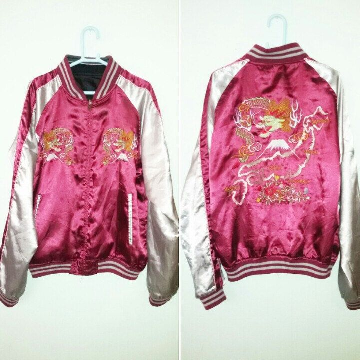 VINTAGE SATIN SUKAJAN REVERSIBLE JACKET . Available now!!