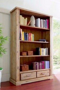 Bücherregal Colorado Akazie massiv Holz Bücherschrank Bücherwand Regal Schrank