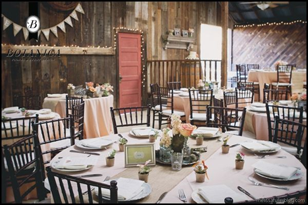 rustic wedding round table settings - Google Search