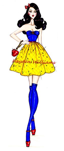 The Disney Diva's collection by Hayden Williams: Snow White. Disney Princess. art. creative. fashion. #ForeverEileen