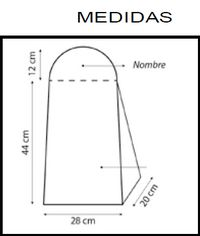 Medidas para porta fraldas