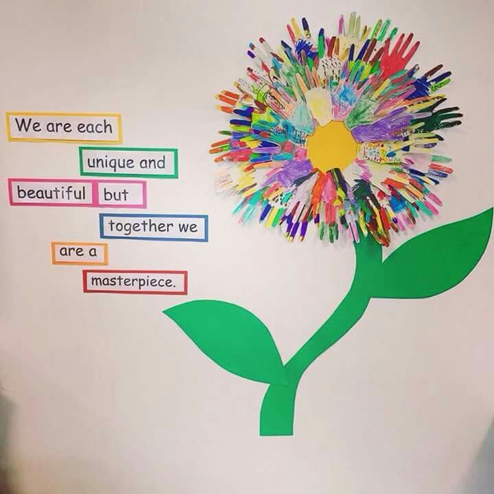 Classroom Ideas Grade 5 ~ We are each unique and beautiful but together a