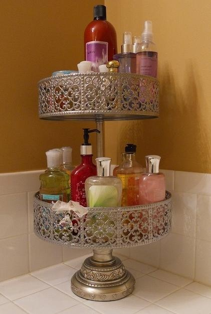 Bathroom organisation. This is cute but I fear it getting rusty with the level of humidity in the bathroom though.