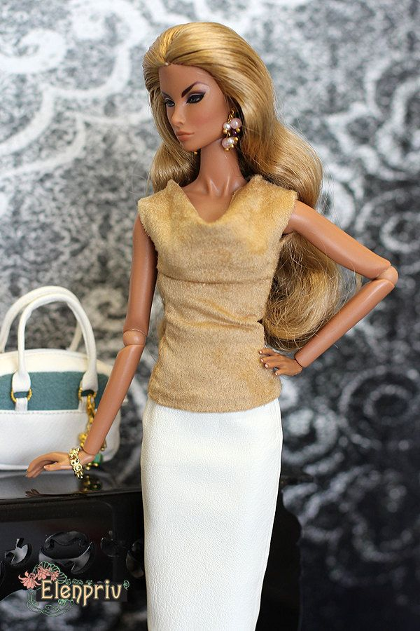 ELENPRIV brown ultrasuede top for Fashion royalty FR2 and similar body size dolls. by elenpriv on Etsy
