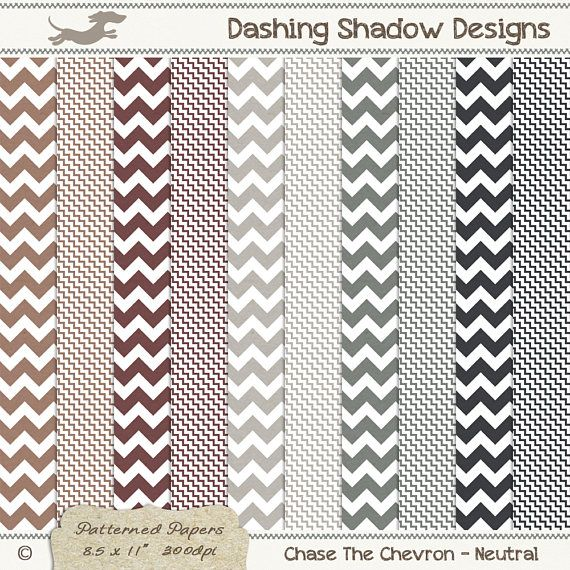 A4 Chase The Chevron in Neutral Colours Digital Printable Scrapbook Craft Paper | Patterns: Chevron, Zig Zag  This instant download digital paper pack includes ten A4 papers with two different chevron designs in five neutral colours which are exclusive to my A4 collection - Cinnamon, Coffee, Ash, Basalt and Granite. All sheets have a very subtle and smooth texture, designed to look like paper you'd find in any good quality stationery store.