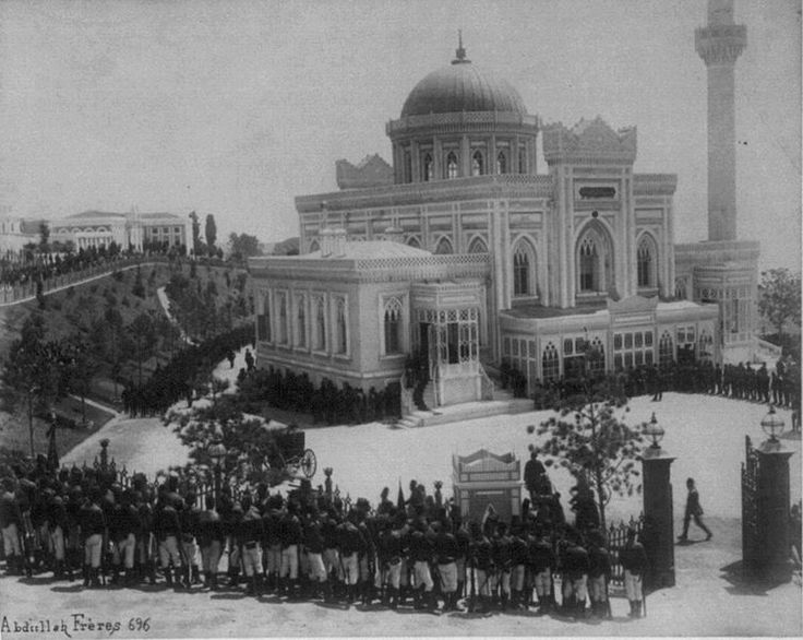 Istanbul c 1881 The Selamlik (Sultan's procession to the mosque) at the Hamidiye Camii (mosque) on Fridays