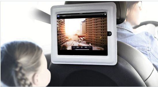 Cinemaseat -- turns your iPad into a DVD player for car rides!