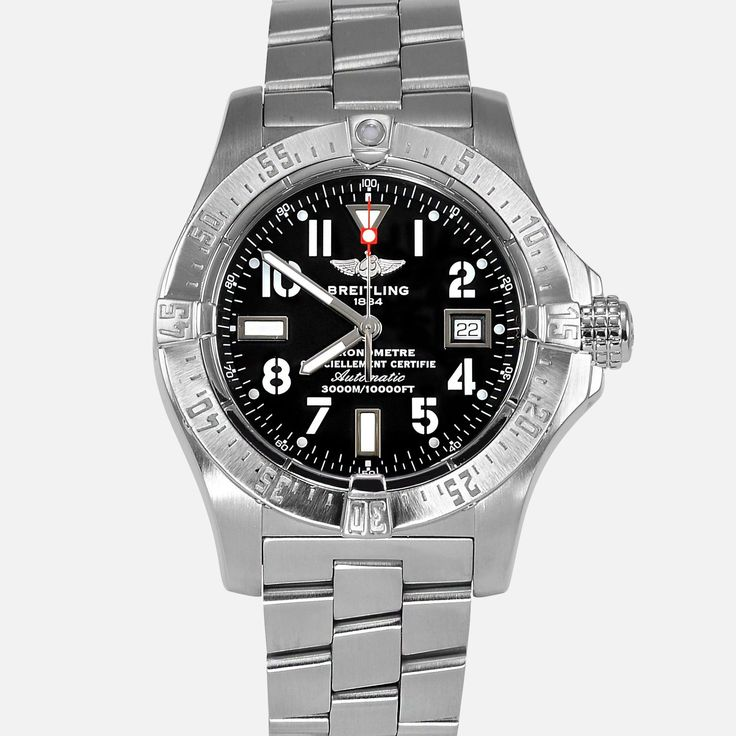 Breitling Avenger Seawolf 45 Black Dial Reference A17330