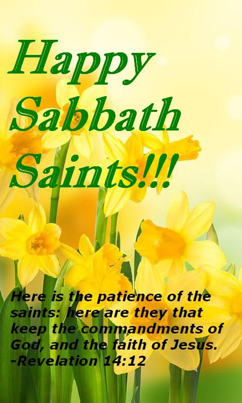 Happy sabbath wishes