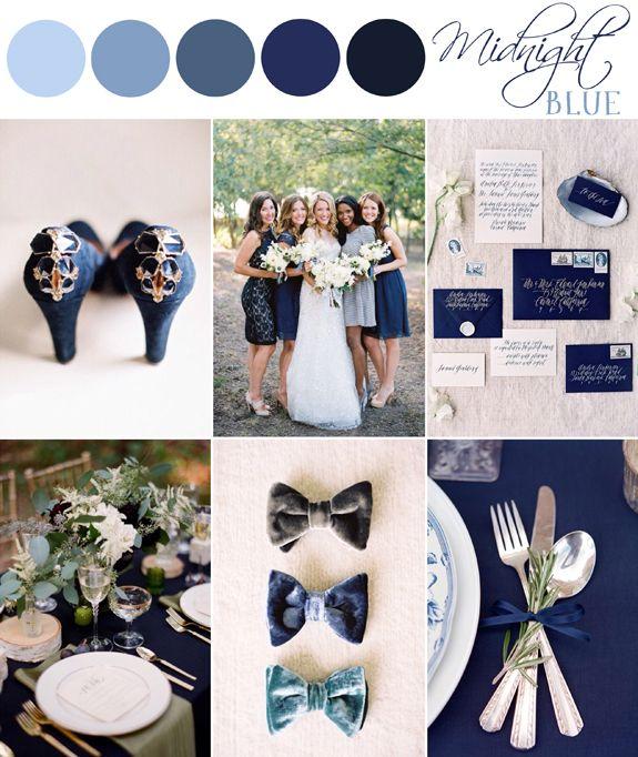 Color Palette Midnight Blue The Bride S Cafe Blog