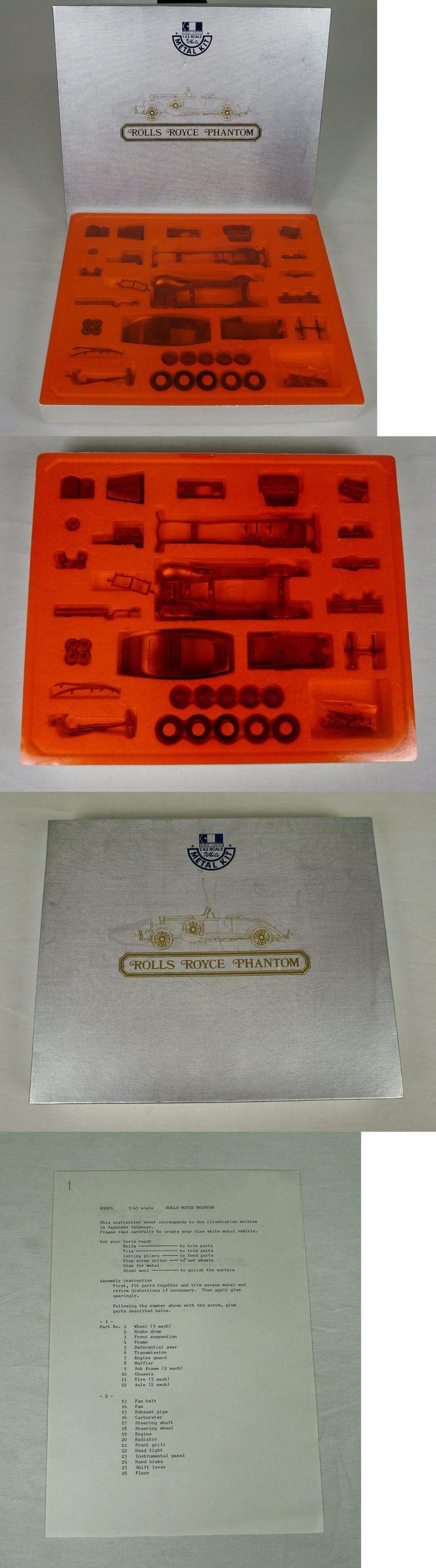 Other Sports Car Models and Kits 2583: Vintage Gunze Sangyo Rolls Royce Phantom White Metal Kit Sealed! 1 43 -> BUY IT NOW ONLY: $94.95 on eBay!