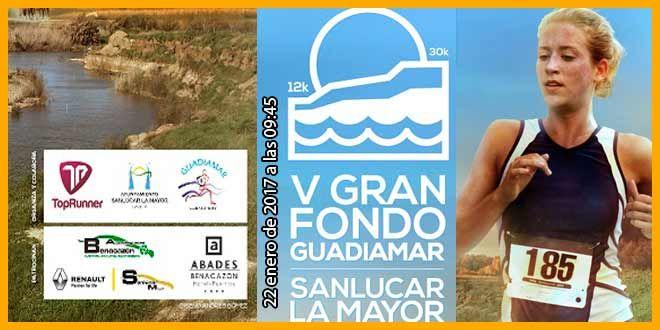 La V Edición Carrera de Gran Fondo del Corredor Verde Guadiamar 2017  se celebrará el  22 de enero de 2017 a las 09:45 horas con un recorrido de 30K y 12K. #sanlucarlamayor #corredorverdedeguadiamar #aljarafe
