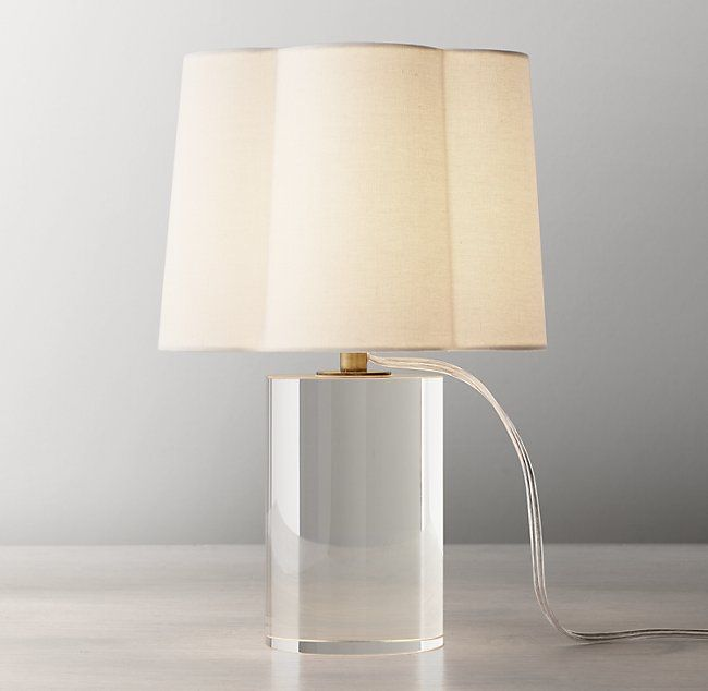 Sabrina Crystal Accent Lamp With Shade Brass In 2020 Accent Lamp Lamp Light Table