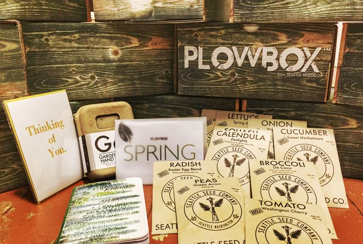 PlowBox | Cratejoy Subscription Box - get beautiful monthly shipments of seeds for your organic garden and great supplies for you! This would be great for cousin Andrew.