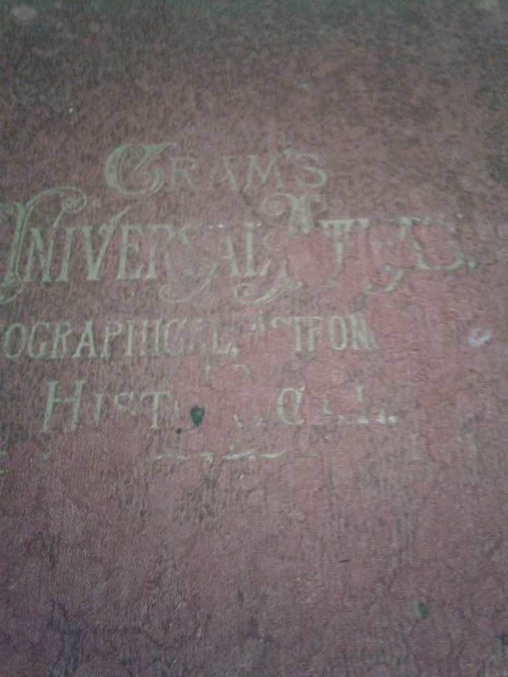 Cram's Universal Atlas Geographical, Astronomical and Historical 1900