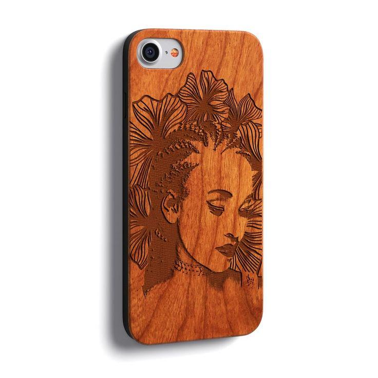 Custom photo wood phone case laser engraved iphone xs xr