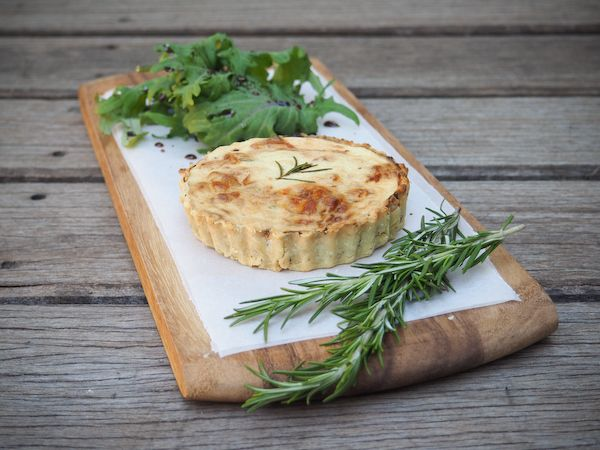 ... Onion, Roasted Garlic & Rosemary Quiche with Olive Oil Crust-1-2