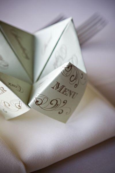 #DIY #wedding cootie catcher menus via http://su.pr/2eivOj