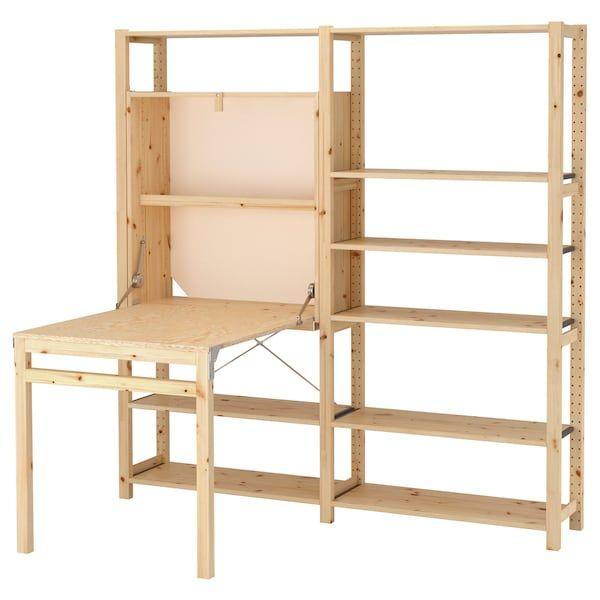 Us Furniture And Home Furnishings Foldable Table Shelves Ikea