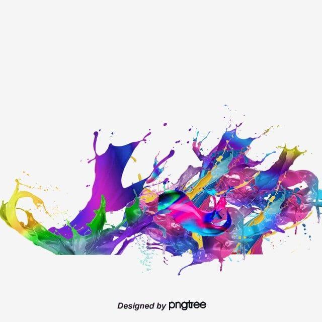 Colorful Splash Effect Colorful Splash Effect Color Png Transparent Clipart Image And Psd File For Free Download Splash Effect Color Splash Art Paint Splash Background