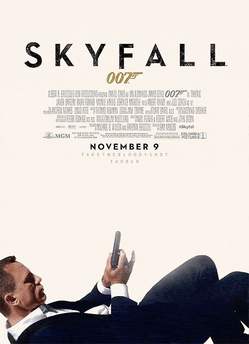 Movie Posters Are Infinitely Better When They're Animated GIFs | Skyfall  by via Imgur  | WIRED.com