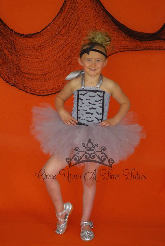 a035c67f1 Gray and Black Bat Tutu Dress - Deluxe Halloween First Birthday ...