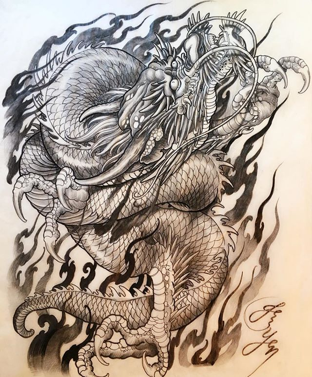 Original dragon drawing and design by #jessyen aka #Horiyen Hope everyone would like itThank you for viewing #mytattoo #bodyart #tattoosketch #tattoodesign #dragontattoo #dragon #drawing #irezumi #oriental #originalart #sketch #彫顏 #刺青 #紋身 #入墨 #龍 #竜 @jessyendotcom @mytattooandpiercing
