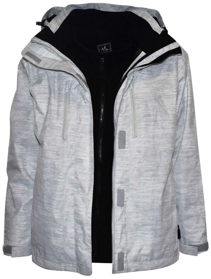 New Pulse Womens Plus Size Ski Jacket 3in1 4X 5X 6X White Boundary Coat