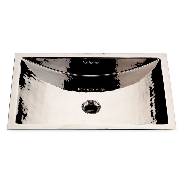 "Discover Normandy Drop In or Undermount Rectangular Hammered Copper Lavatory Sink 13 9/16"" x 8 1/4"" x 5 1/8"" Online 
