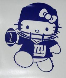 Hello-Kitty-New-York-Giants-Football-Car-Truck-Window-Vinyl-Decal ...