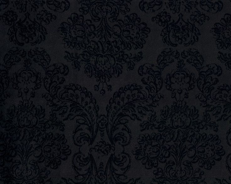 Italienischer Designer-Wollstoff, Nadelfilz mit Beflockung MAXMAR, Brokatmuster, schwarz