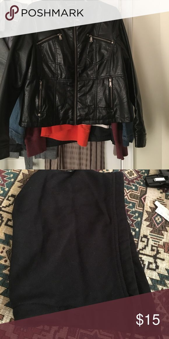 Black IZ Byer leather jacket Like new IZ Byer leather jacket in an XL. This is a hooded leather jacket with removable hood. Just found that it is a little damaged from the back as shown in the last pic Iz Byer Jackets & Coats