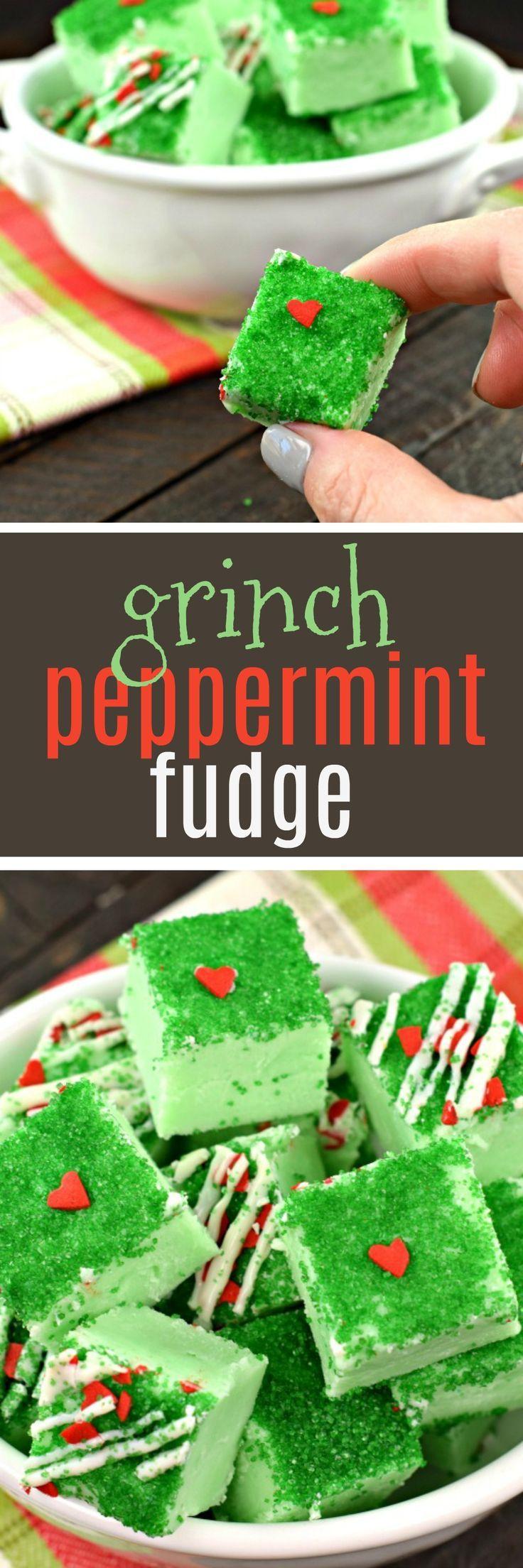 Grinch peppermint fudge.