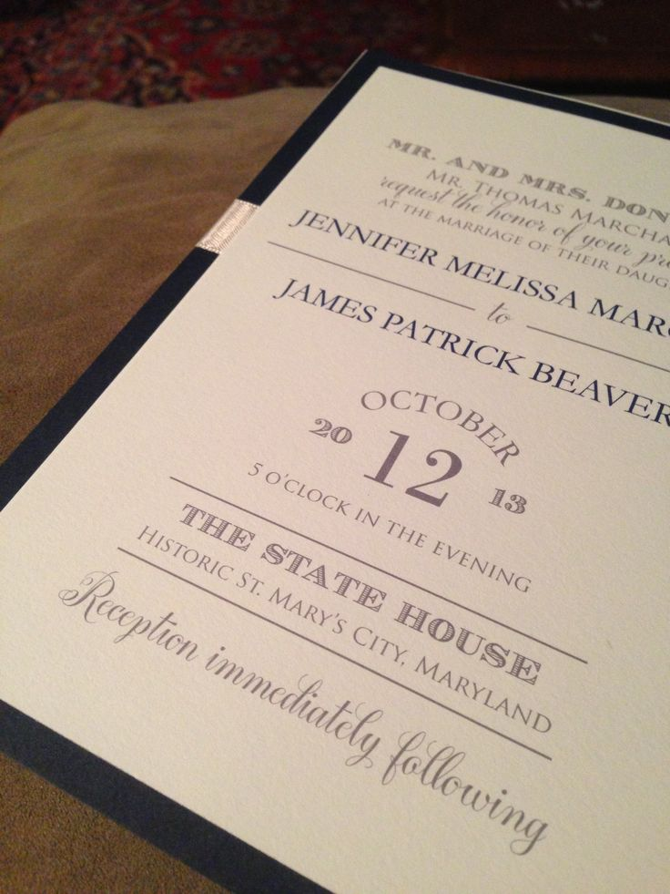 Vintage invitation with multiple fonts and a
