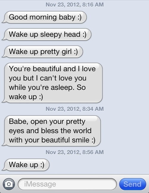 These Are The Cuuuutest Goodmorning Texts Boy Knows What He S Doing Good Morning Texts Cool
