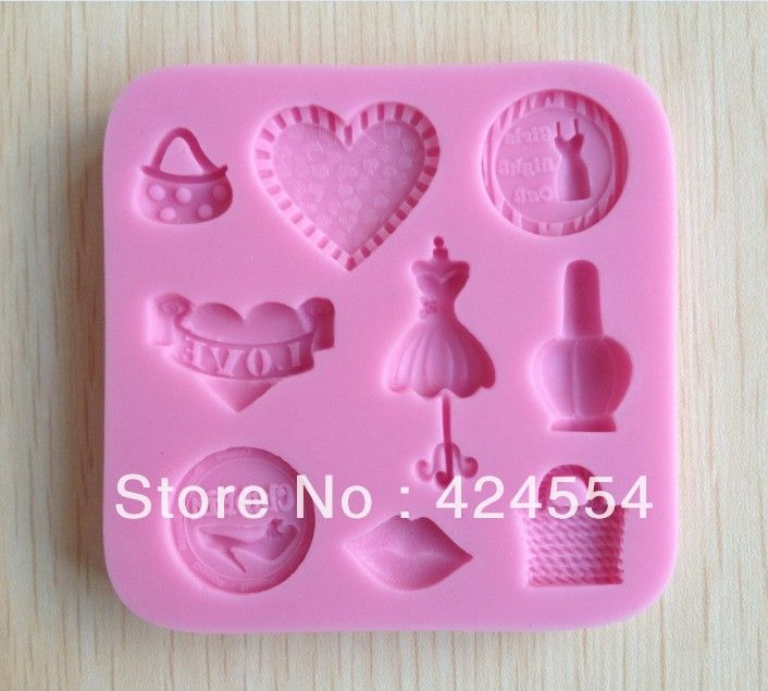 Free shipping 1pcs Purse shaped Chocolate Candy Jello 3D silicone Mold Mould Cartoon Figre/cake tools Soap Mold Cake Decoration $5.69